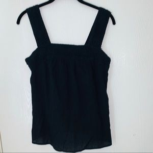 Old Navy Black Embrodiered Tank Top. Size S